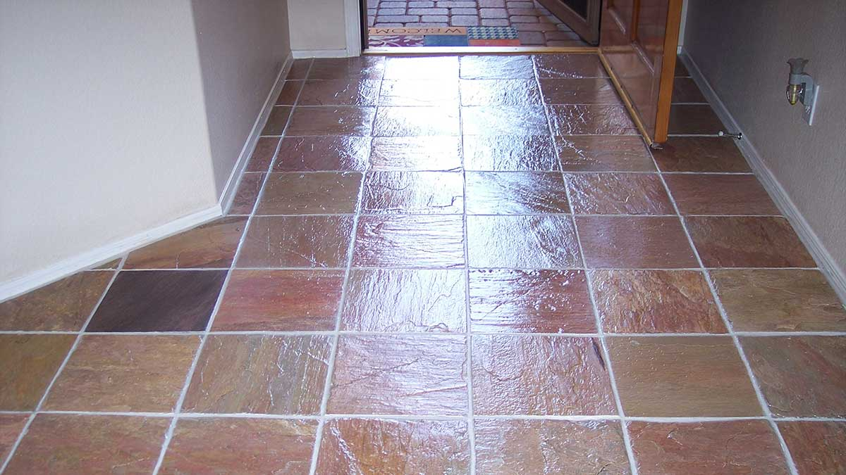 Dallas slate floor restoration cleaning polishing refinishing slate after restoration dailygadgetfo Image collections