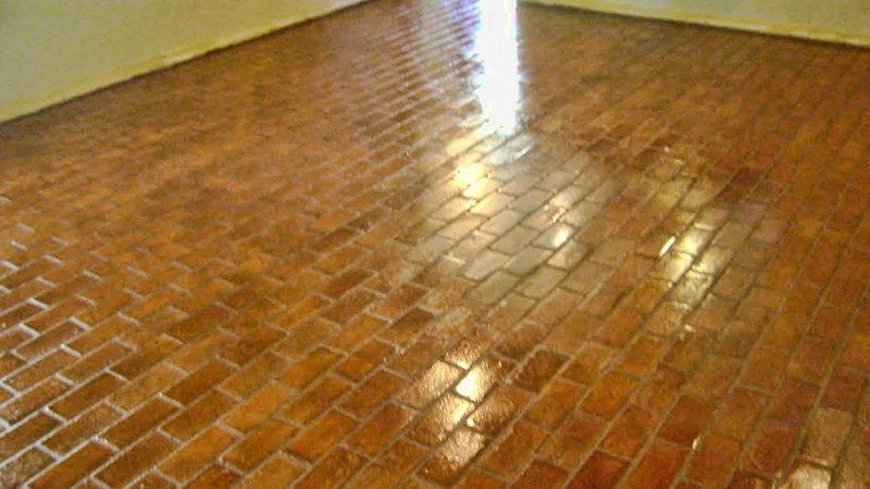Seal Tile Floor >> Dallas Brick Floor Restoration Cleaning Polishing ...