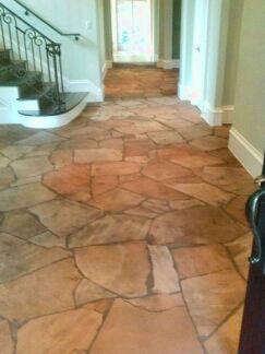 dallas flagstone floor restoration cleaning polishing refinishing