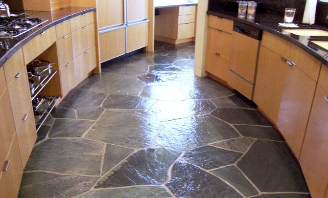 Dallas Slate Floor Restoration Cleaning Polishing Refinishing - Sanding slate floor